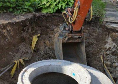 Neuer Abwasserschacht